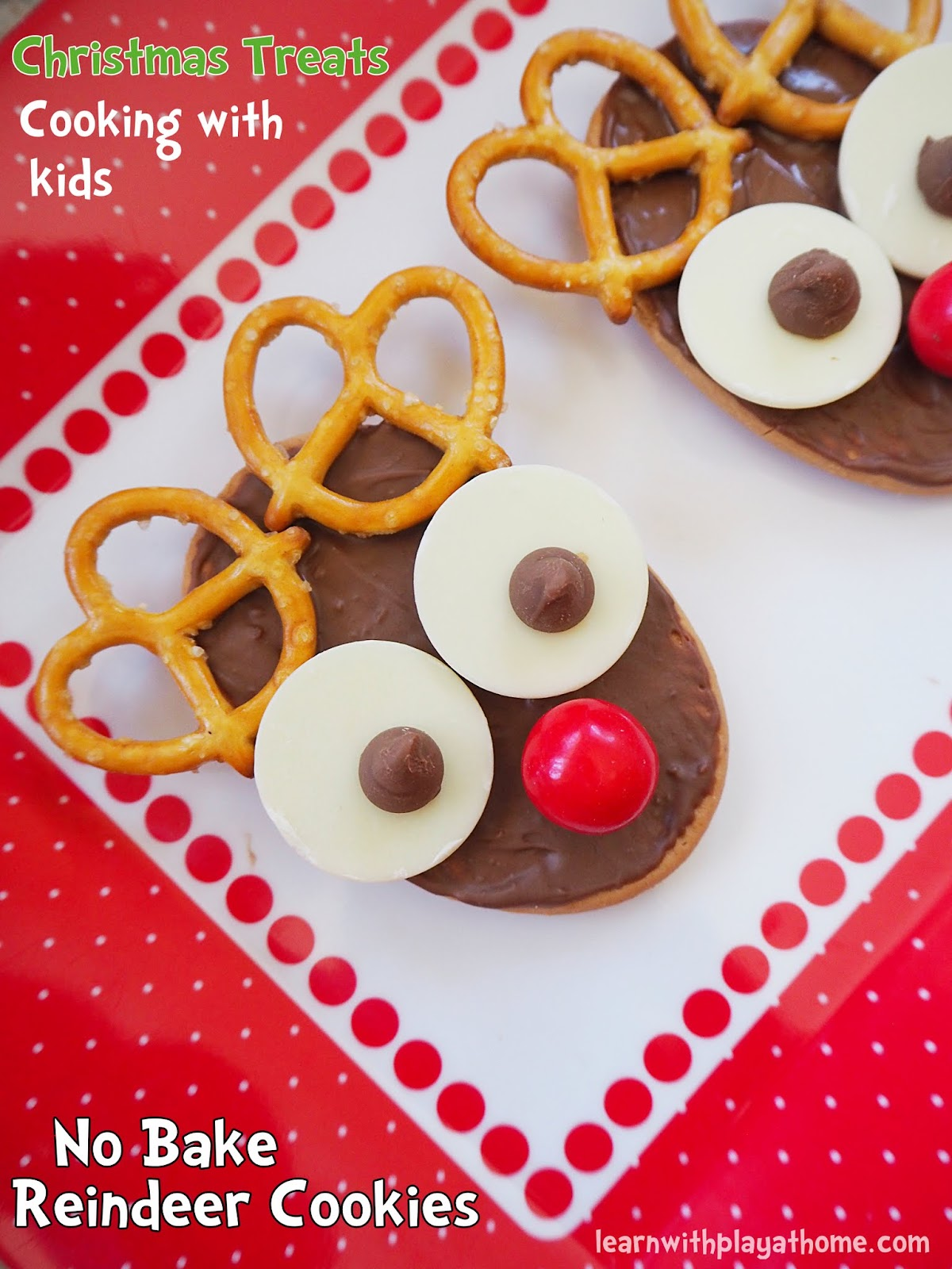 Learn with play at home no bake reindeer cookies fun christmas christmascookingreindeercookiesnobakeg forumfinder Choice Image