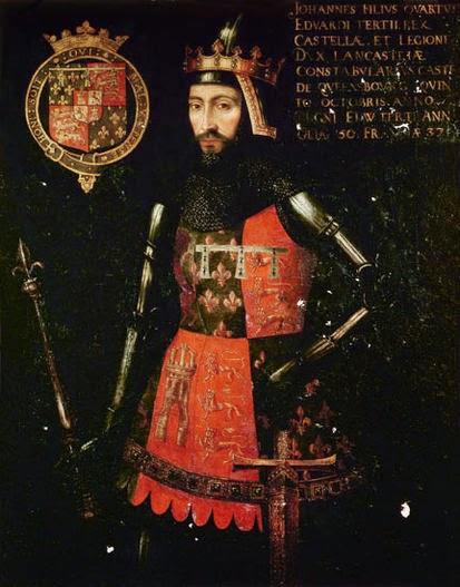 Juan de Gante, Duque de Aquitania y Lancaster, Conde de Derby, Lincoln y Leicester