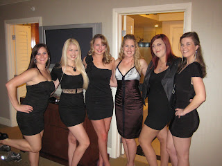 The girls all ready to go out on Saturday night.