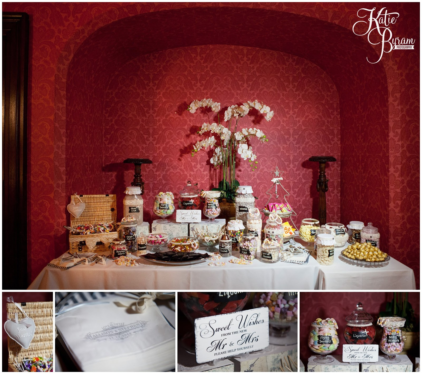candy buffet, sweet table wedding, ellingham hall wedding, alnwick wedding, katie byram photography, ellingham hall, mia sposa bridal, wedding venues north east, newcastle wedding photographer, ellingham, alnwick treehouse wedding, adam prest flowers, winter wedding, winter wedding theme, by wendy stationery, quirky wedding photography, northumberland wedding, northumberland, dani.mua, dani make up artist, lisa cameron hair