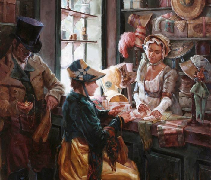 Meadow Gist   American Figurative painter and illustrator