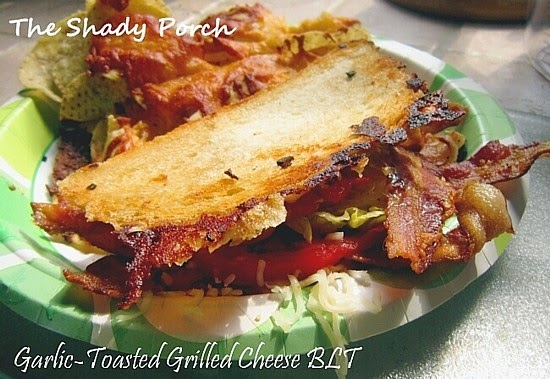 Garlic-Toasted Grilled Cheese BLTs