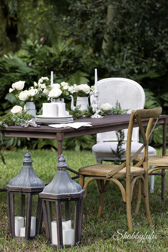 Fabulous party decoration outdoors french style The rustic outdoor table