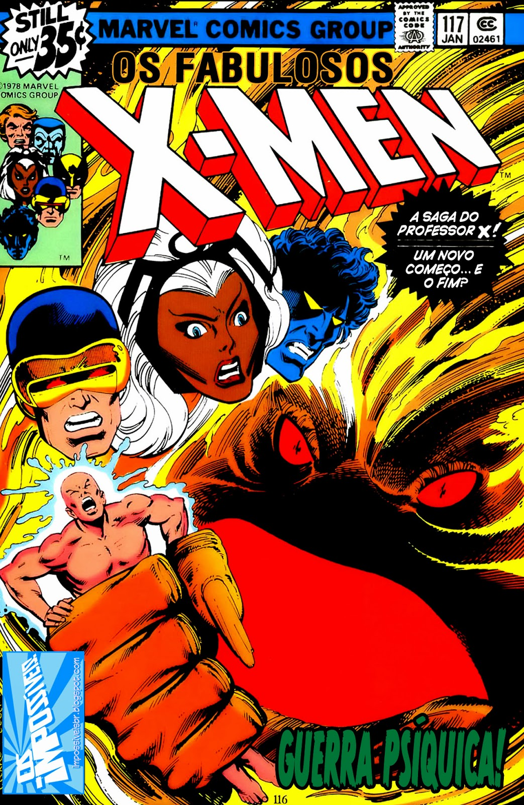 http://www.mediafire.com/download/3fdisp4h407q6f0/Os.Fabulosos.X-Men.(X-Men.V1).117.HQBR.28OUT13.Os.Impossiveis.cbr
