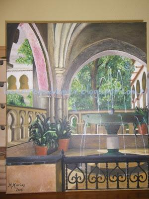 Claustro de Guadalupe - Óleo sobre lienzo