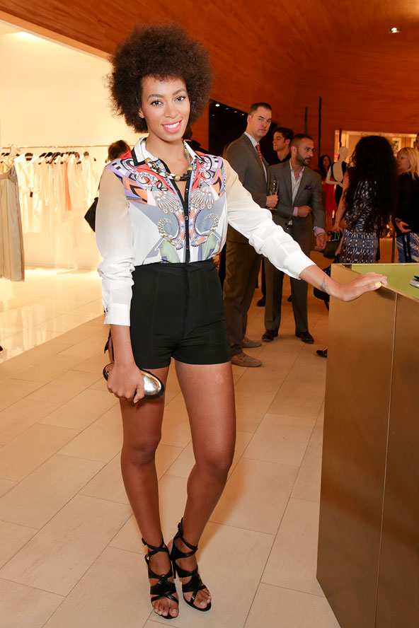 Solange Dj's the Etro Celebration at Saks Fifth Avenue in New York City