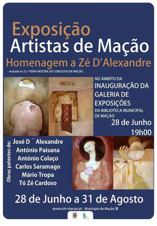Exposição de Artistas de Mação -Homenagem a Zé D´Alexandre