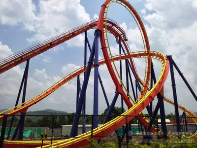 Nitro Roller Coaster in Adlabs Imagica