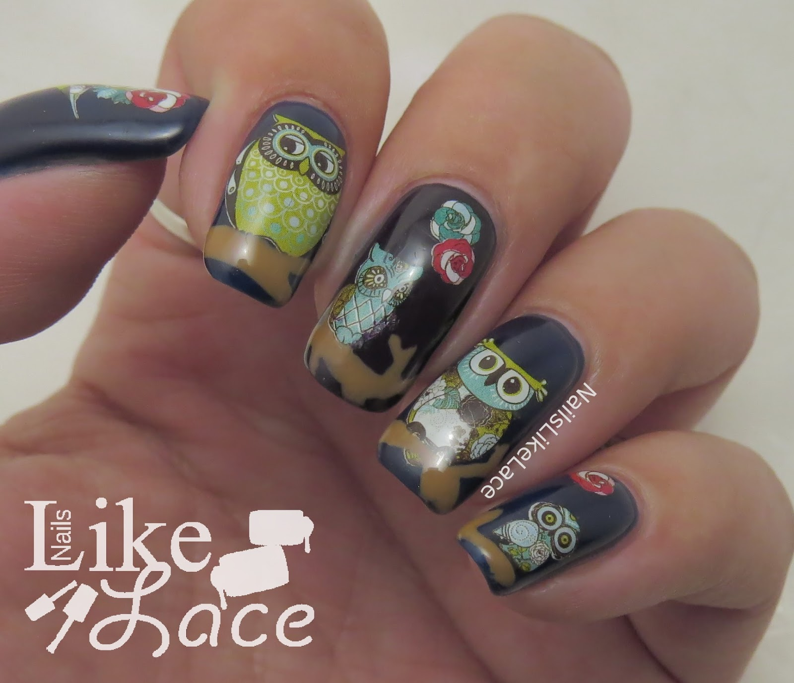 NailsLikeLace: Night Owls feat. Seche Vite & Live Love Polish