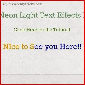 Add neon text effects to Weebly