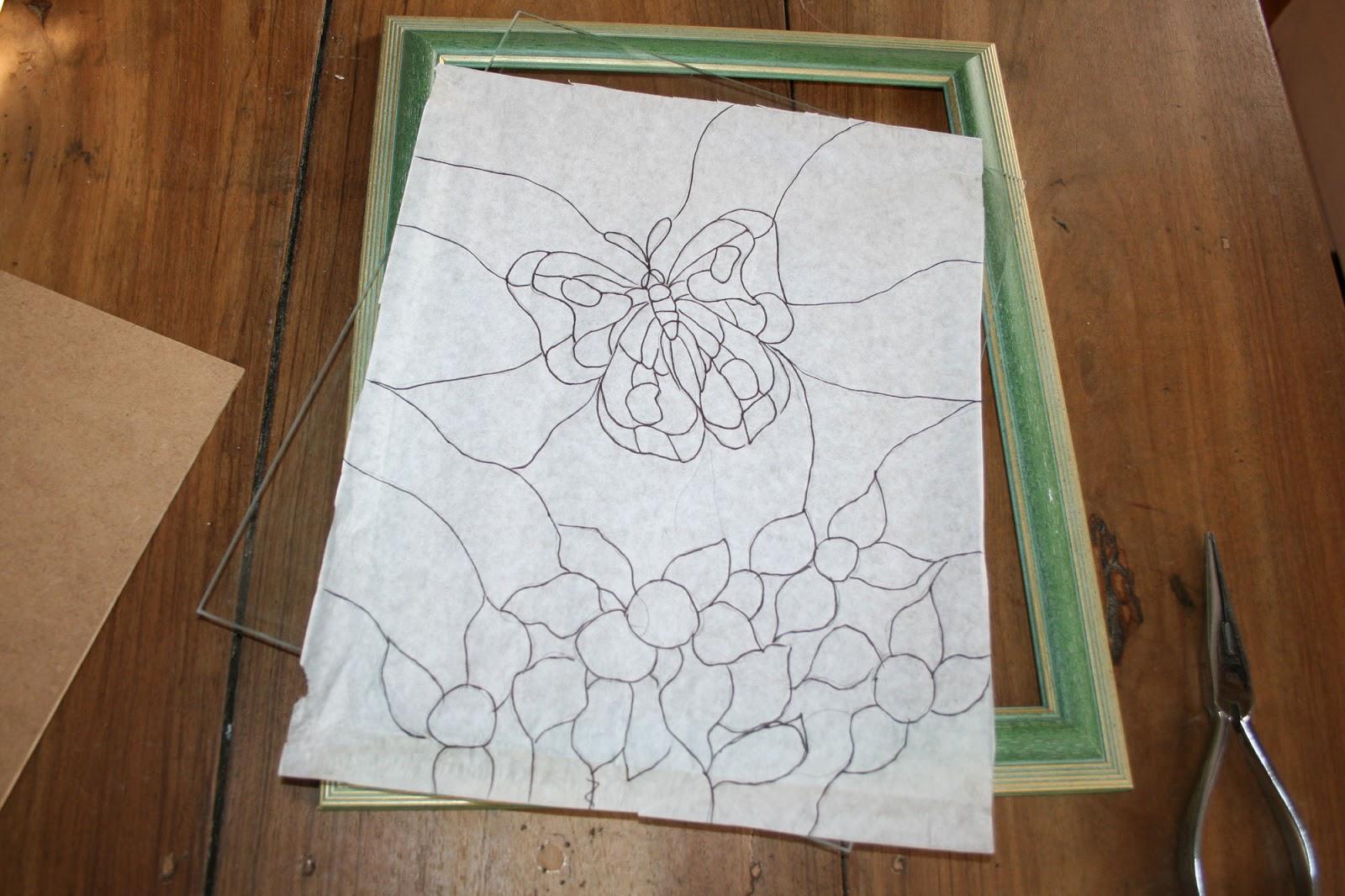 Favoloso Fatto da me tutorial: Quadro con farfalla dipinto su vetro  EK72
