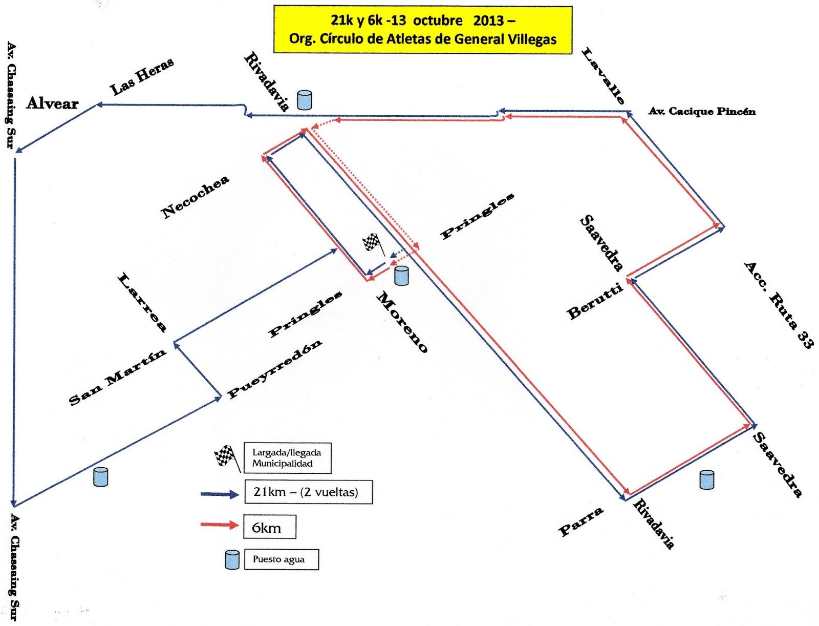Circuito General : Círculo de atletas de gral. villegas: 1º media maraton g.villegas