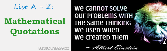 Mathematical Quotations - Start with A | Engineering Problem ...