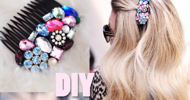 Fashion Of Luxury Diy Bejeweled Hair Combs Pretty