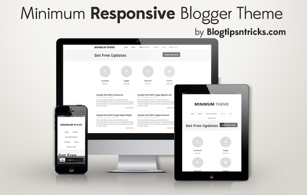 Minimum Responsive Blogger Theme Demo
