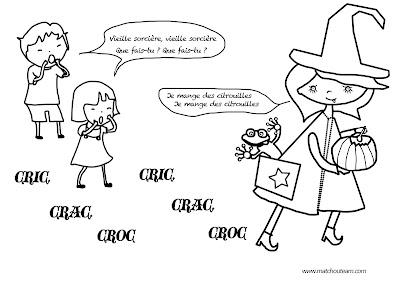 illustration chanson vieille sorcière Halloween