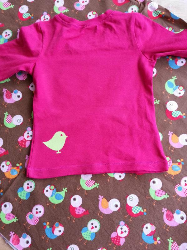 Achterkant shirt, flockfolie applicatie