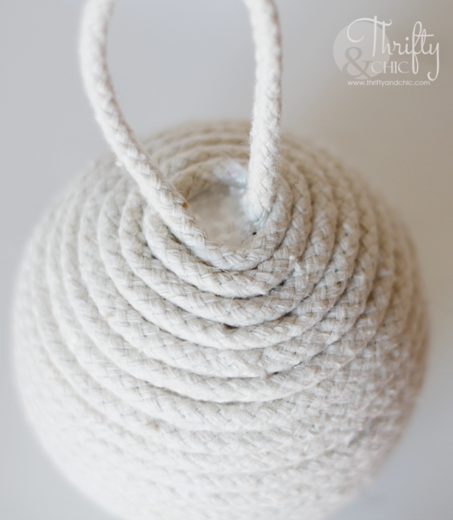 Nautical rope christmas ornament.
