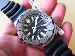 SEIKO DIVER BLACK MONSTER - RUBBER STRAP - SEIKO SKX779 - AUTOMATIC 7S26