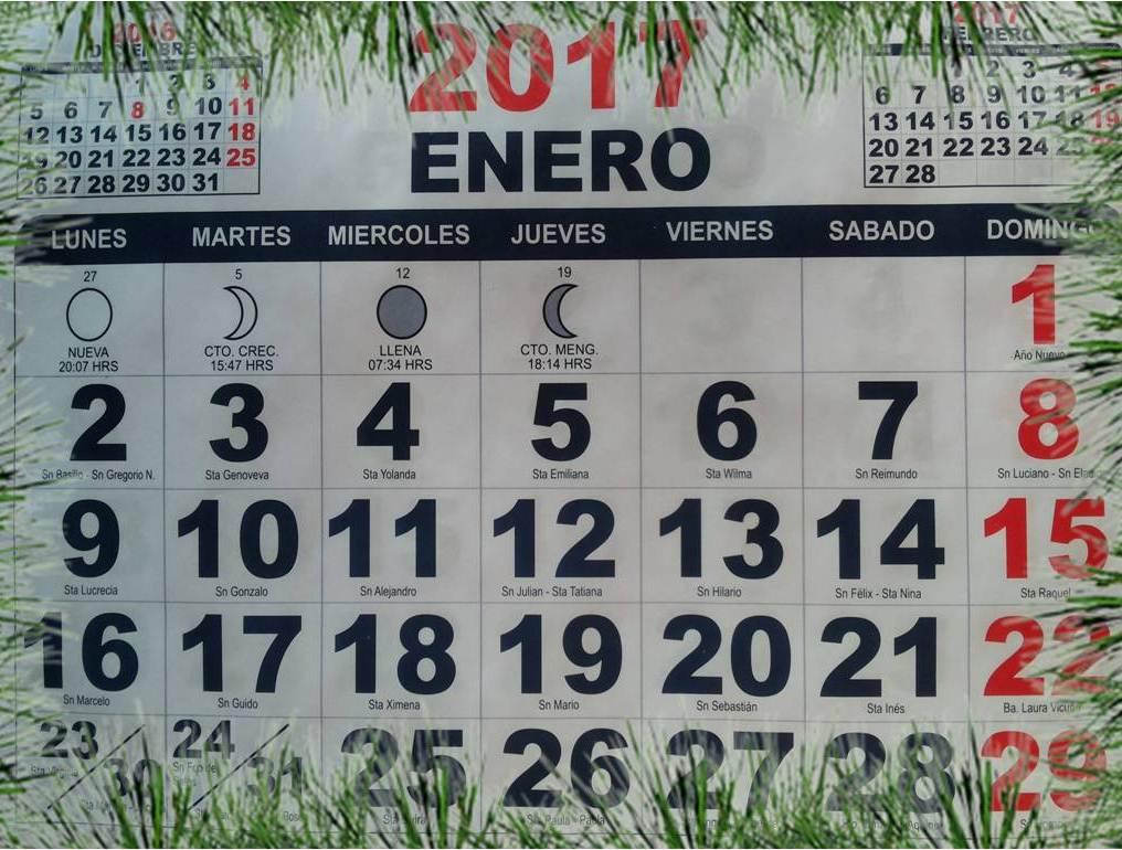 Palabra breve calendario 2017 feriados en chile Calendario 2017 con lunas