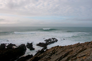 Huge waves of the coast of Cornwall