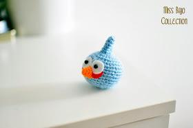 angry bird azul amigurumi