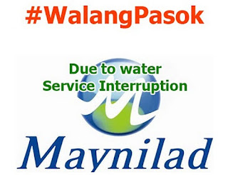 Class suspension due maynilad water service interruption