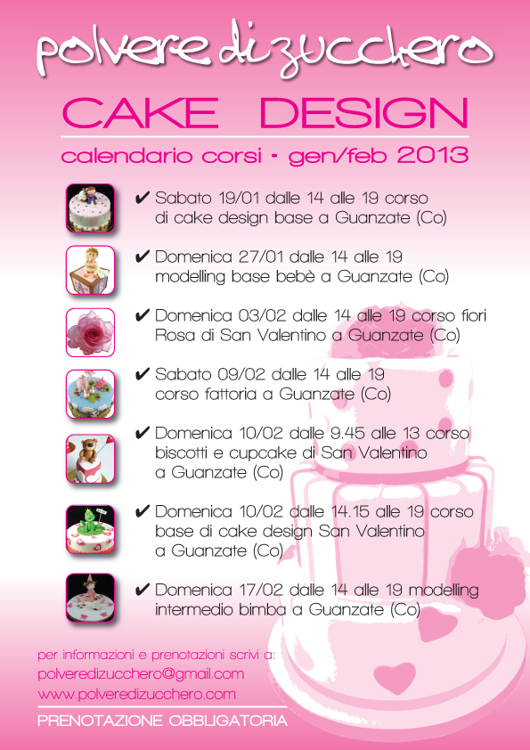 Corsi Di Cake Design Torino E Provincia : Calendario corsi di cake design: torte, modelling ...