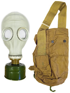 gas mask soviet russian model with haversack
