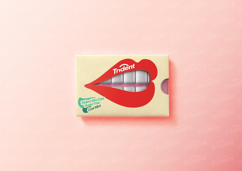 """Attēlu rezultāti vaicājumam """"trident gum packaging design"""""""