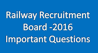 RRB NTPC - 2016 Gk Important Bits For Online Exams