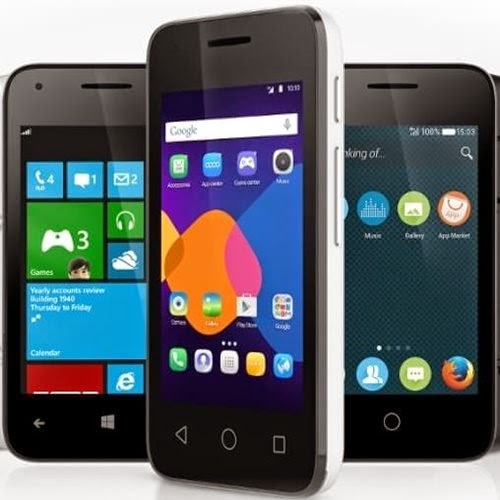 Alcatex, smartphones, gadgets, Windows Phone, Firefox OS, Android