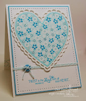 ODBD Clean Heart, Flower Heart, ODBD Custom Ornate Hearts Die Set, Card Designer Angie Crockett