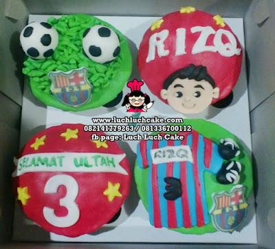 Cupcake 2D Tema Barcelona
