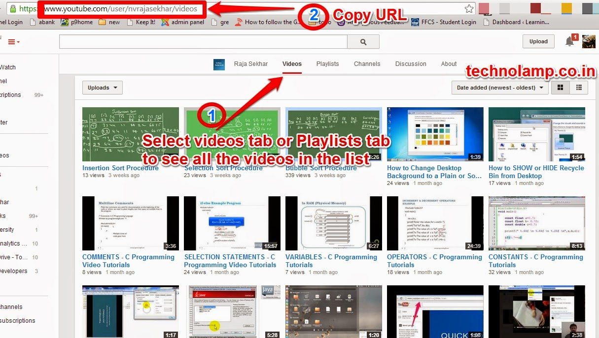 How to download entire youtube playlist technolamp step 3 now open the youtube playlist or channel or single video see the step 1 in the image ccuart Images