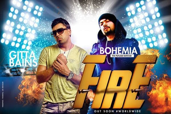 BOHEMIA & GITTA BAINS - Fire (Coming Soon) Music by Haji Springer - pesa nasha pyar - desi hip hop