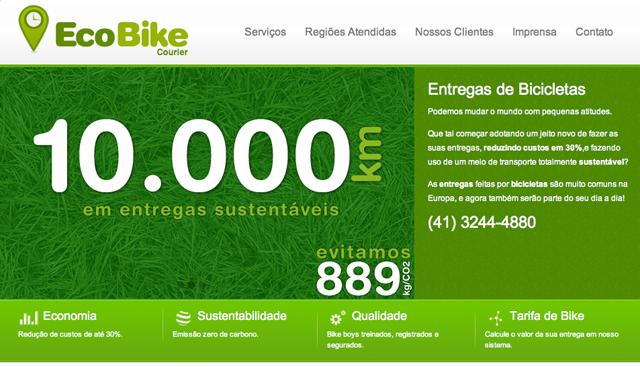 EcoBike Courier faz entregas de bicicleta pelas ruas de curitiba