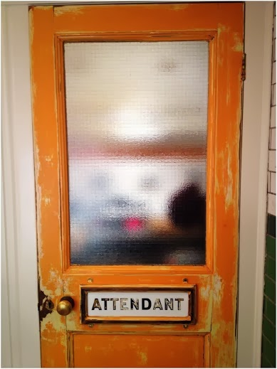 Door at Attendant Cafe
