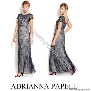 Crown Princess Victoria wore  ADRIANNA PAPELL Dress