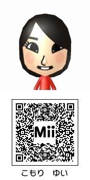 古森結衣(HKT48)のMii QRコード トモダチコレクション新生活