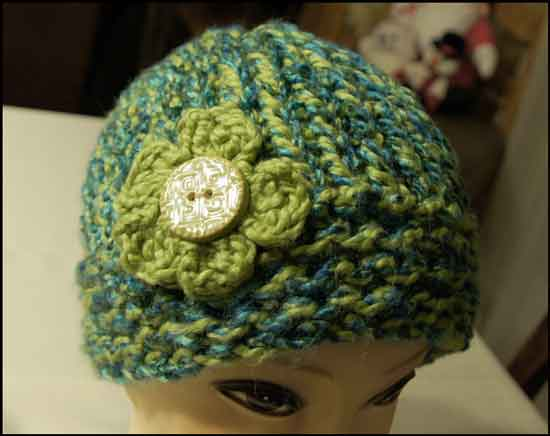 Altered Scrapbooking Heathers Loom Knit Hat