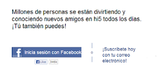 inicio sesion hi5 con facebook