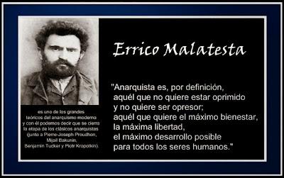 Anarquismo,Anarquistas,  Anarquía, trabajadores, obreros, CNT AIT ,CNT FAI Juventudes Libertarias, Mujeres libres , grupos anarquistas, revolución,https://www.facebook.com/pages/Anarquistas/378066755607147 L@s anarquistas queremos la paz inmediata, tierras para el campesino y la socialización de los medios de producción y distribución.  La abolición del capitalismo y de la esclavitud del salario, iguales derechos para tod@s y nadie con privilegios especiales. La tierra, las fábricas y talleres, la maquinaria productora y los medios de distribución.  Que cada individuo trabaje según su capacidad y recibir de acuerdo con sus necesidades.  Libertad plena para cada uno y un uso común basado en los intereses mutuos. L@s anarquistas estamos en contra de la delegación del poder en gobierno y en contra darle autoridad a algún partido político.  Toda clase de gobierno destruye toda revolución y roba a los trabajadores y las trabajadoras l@s resultados ya conseguidos.  La vida y el bienestar dependen de la economía, no del el manejo política. O sea, lo que el pueblo quiere es vivir y trabajar y satisfacer sus necesidades. Para esto es necesario el manejo sensato de la industria, no la política. Por que la política es el juego de dominar y gobernar a los hombres y las mujeres, y no es para ayudarl@s a vivir.  Por eso hay que abolir el gobierno político; y que los asuntos agrarios, industriales y sociales esten beneficio de tod@s, en lugar de en beneficio de los gobernantes y los explotadores.   ¡Muerte al estado y viva la anarquía!