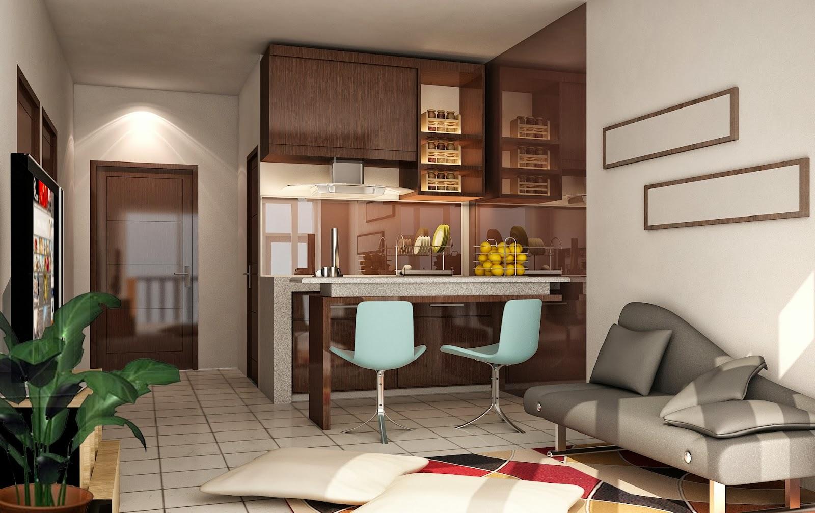 Desain interior rumah minimalis type 36 sederhana tapi menawan for Interior decoration rumah
