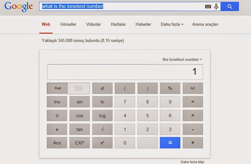 En Yalnız Sayı Arama Sorgusuna Google'nin Cevabı