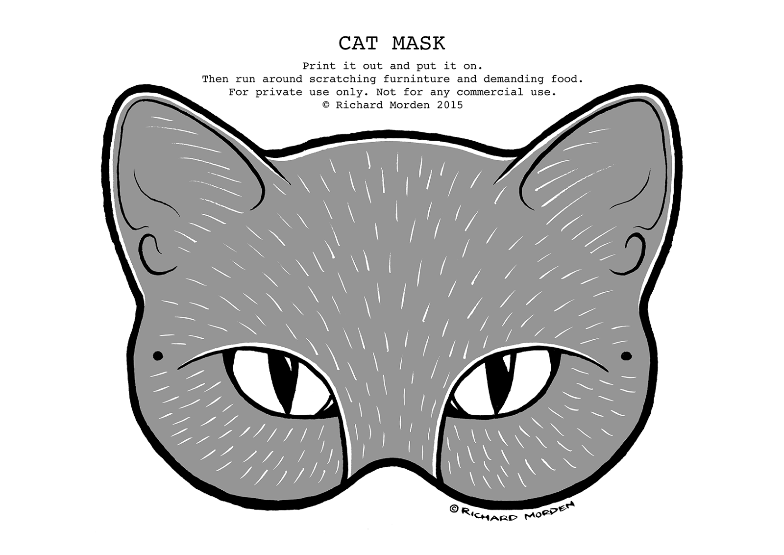 Uncategorized How To Make A Cat Mask richard morden illustration make your own paper cat mask mask