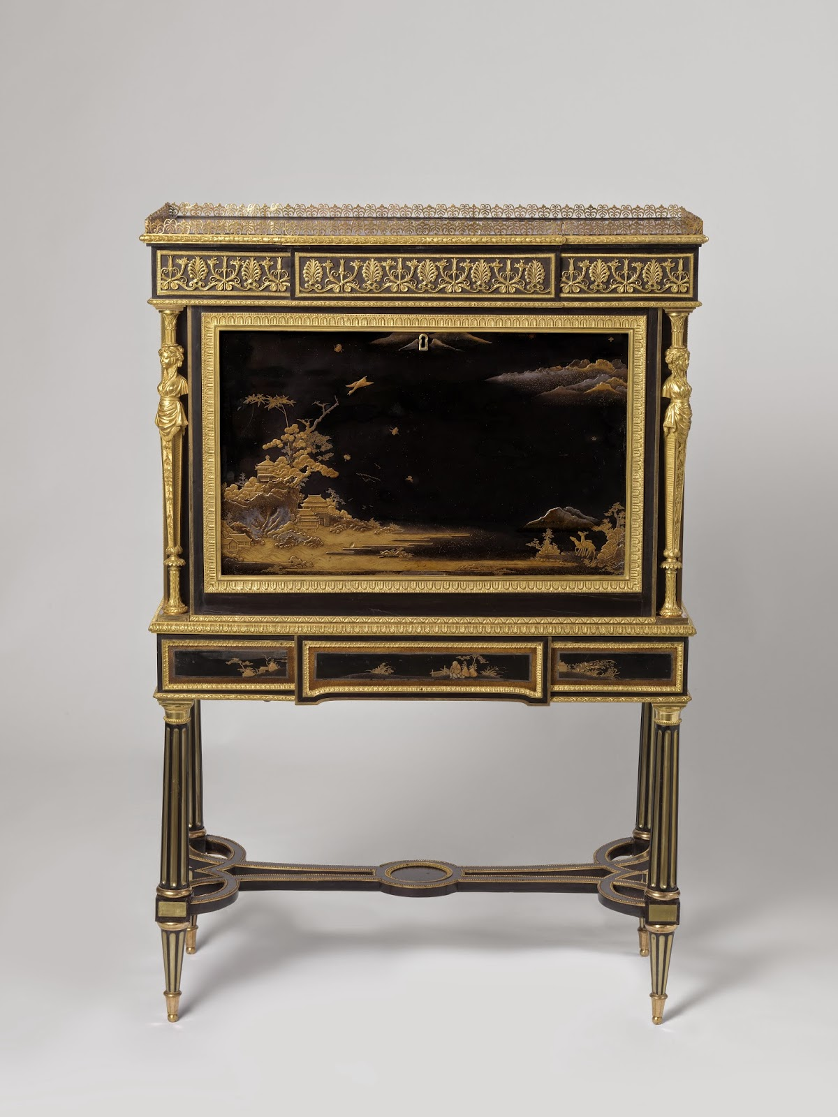 Drop-front secretary (secrétaire à abattant), attributed to Adam Weisweiler, c. 1790 - c. 1795