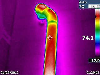 température conduit de cheminée