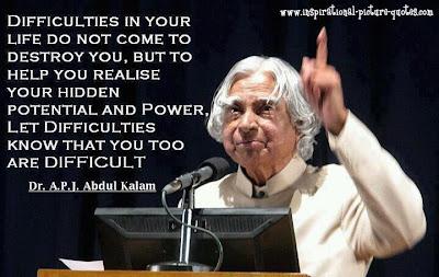 Abdul Kalam Inspirational Quote