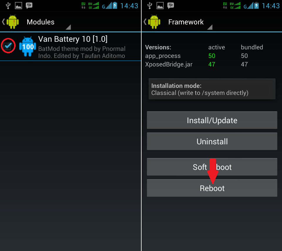 Cara Merubah Icon Baterai Android Dengan Custom Battery Mod